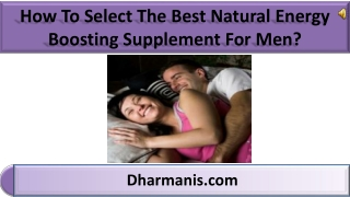 How To Select The Best Natural Energy Boosting Supplement Fo