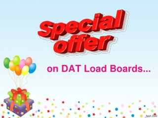 Special Offer on DAT Load Boards
