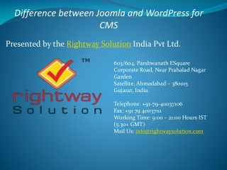 WordPress V/S Joomla As Content Management System
