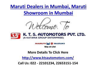 Maruti Dealers in Mumbai, Maruti Showroom in Mumbai