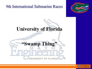 University of Florida   Swamp Thing