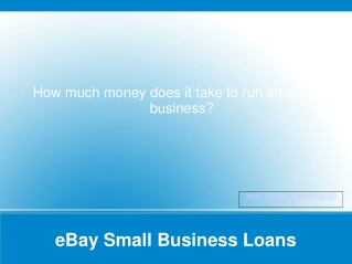 eBay Small Business Loans