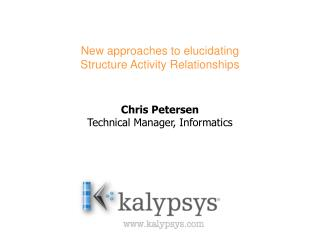 New approaches to elucidating  Structure Activity Relationships
