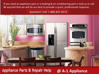 Home Appliances Repairing Parts of all Major Parts