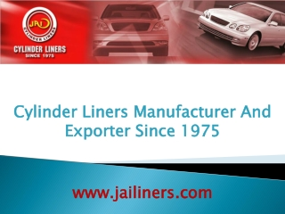 Cylinder Liners And Cylinder Liners Manufacturer Company