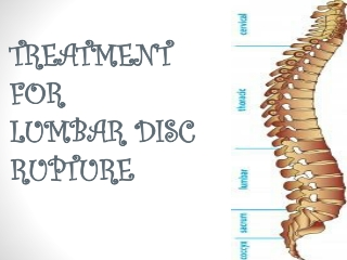 Treatment for lumbar disc rupture
