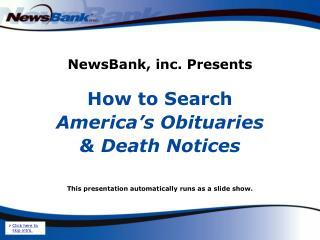 NewsBank, inc. Presents