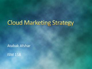 Cloud Marketing Strategy