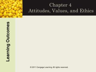 Chapter 4   Attitudes, Values, and Ethics