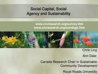 Social Capital, Social Agency and Sustainability