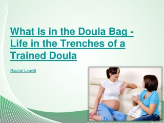 What Is in the Doula Bag
