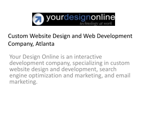 Custom Website Design and Web Development Company, Atlanta