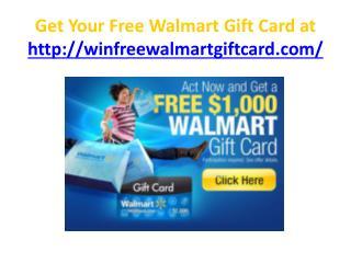 free walmart gift card