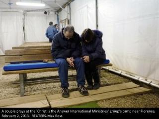 Evangelist tent city