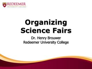 Organizing Science Fairs
