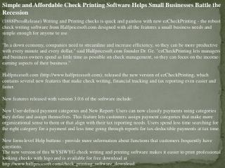 simple and affordable check printing software helps small bu