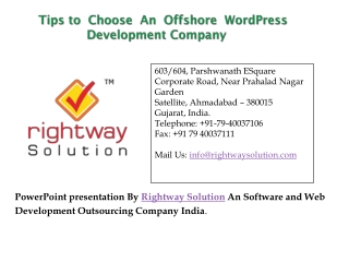 Offshore WordPress Development Firm Based In India