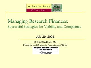 Managing Research Finances: Successful Strategies for Viability and Compliance