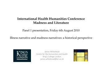 International Health Humanities Conference Madness and Literature ...