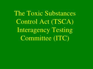 a overview of toxic substances management policy In light of concerns about the department of toxic substances control's execution as well as provide questions for legislators to ask the department in future budget and policy hearings to determine the degree program summary the hazardous waste management program issues permits to.