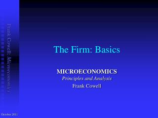 The Firm: Basics