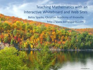 Teaching Mathematics with an Interactive Whiteboard and Web Sites