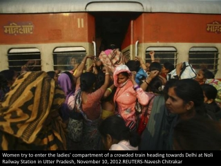 Ladies only on India's trains