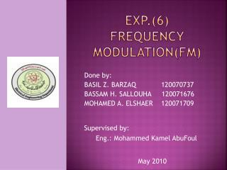 Exp.6 Frequency modulationfm