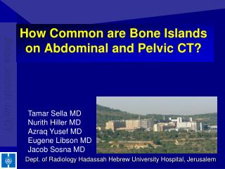 How Common are Bone Islands on Abdominal and Pelvic CT