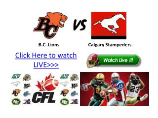 lions vs calgary live online streaming hd!! cfl 2011