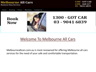 Melbourne All Cars