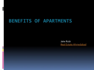 Benefits of Apartments
