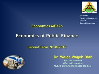 Economics  of the  Public Sector  Public Economics or Public Finance