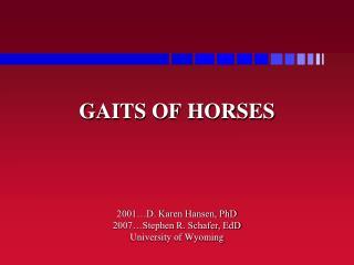 GAITS OF HORSES