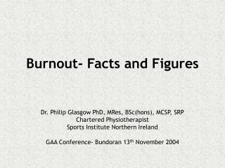 Burnout- Facts and Figures