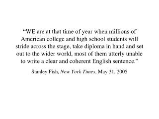 WE are at that time of year when millions of American college and high school students will stride across the stage, ta