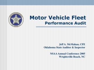 Motor Vehicle Fleet  Performance Audit