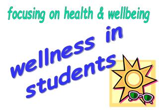 Focusing on health  wellbeing