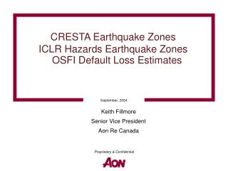 CRESTA Earthquake Zones  ICLR Hazards Earthquake Zones