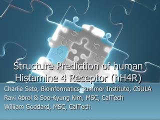 Structure Prediction of human Histamine 4 Receptor hH4R