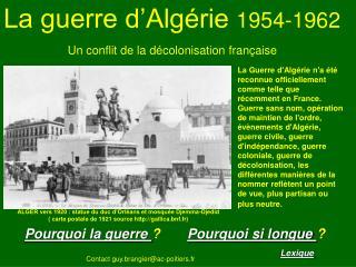 La guerre d Alg rie 1954-1962