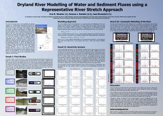 Dryland River Modelling of Water and Sediment Fluxes using a Representative River Stretch Approach