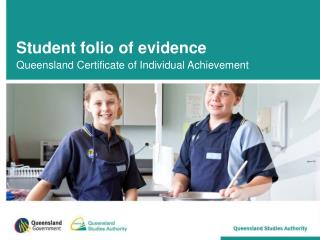 Student folio of evidence