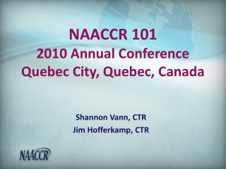 National Program of Cancer Registries Education and Training Series