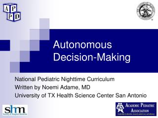 Autonomous Decision-Making
