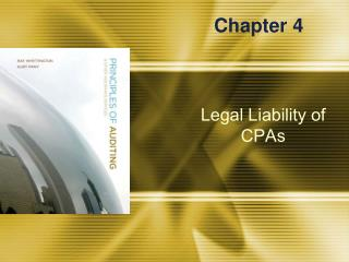Legal Liability of CPAs