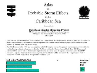 Atlas  of  Probable Storm Effects in the  Caribbean Sea