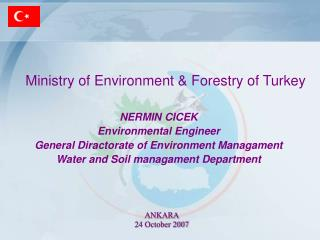 Ministry of Environment  Forestry of Turkey