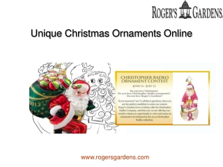 Unique Christmas Ornaments Online