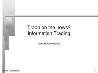 Information Trading